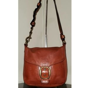 COACH VTG Cognac Leather Bleecker Tattersal 11419
